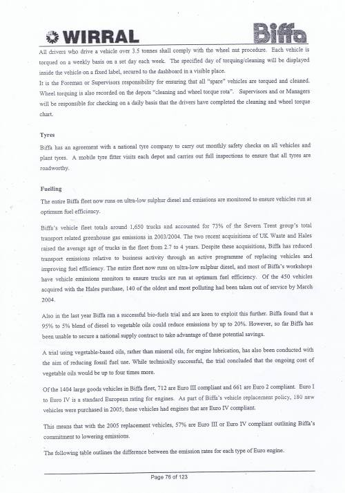 Wirral Council Environmental Streetscene Services Contract page 76 Method Statement 21 Resources