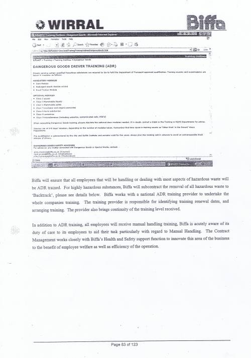 Wirral Council Environmental Streetscene Services Contract page 83 Method Statement 25 Hazardous Waste