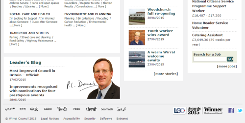 Wirral Council homepage
