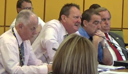 Merseytravel Committee (Liverpool City Region Combined Authority) meeting 25th June 2015 Middle Row L to R Cllr Jerry Williams, Cllr Steve Foulkes, Cllr Malcolm Sharp, Cllr Terry Shields