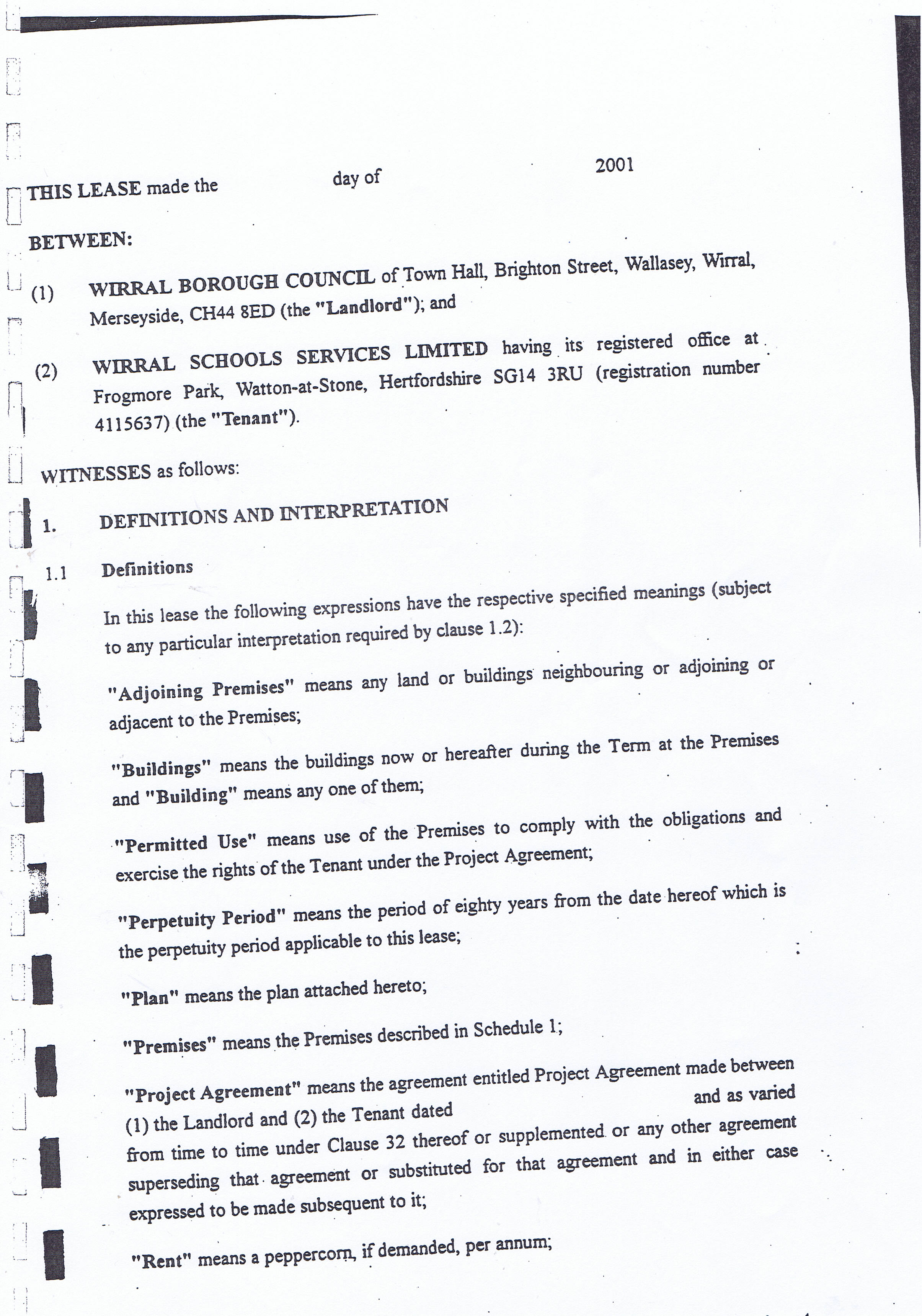 18 More Pages Of The Wirral Council Schools Pfi Contract Including