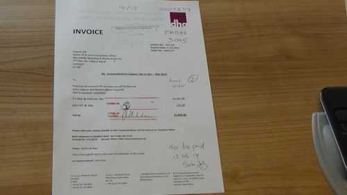 DHA Communications Ltd invoice to Merseyside Recycling and Waste Authority invoice 2