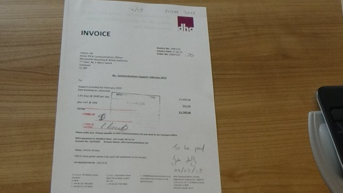 DHA Communications Ltd invoice to Merseyside Recycling and Waste Authority invoice 8