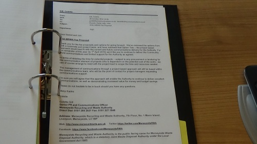 Emails between DHA and Merseyside Recycling and Waste Authority Page 4 of 10