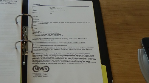 Emails between DHA and Merseyside Recyling and Waste Authority Page 8 of 10