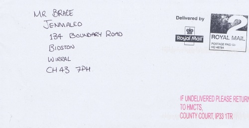 Her Majesty's Court and Tribunal Service envelope 2
