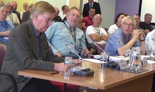 Les Spencer of the Saughall Massie Conservation Area Society addresses the Merseyside Fire and Rescue Authority on why they are opposed to a new fire station in Saughall Massie