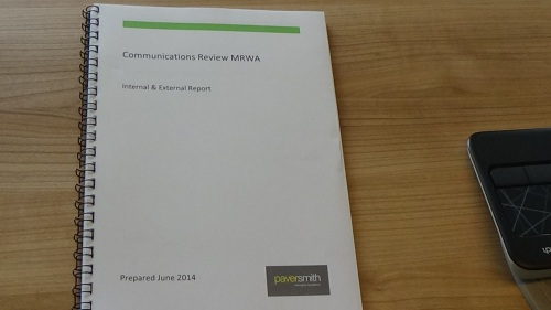 Paver Smith report on internal communications to Merseyside Recycling and Waste Authority page 1