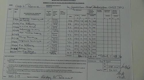 Cllr Lesley Rennie car mileage expenses September 2014 October 2014 November 2014 January 2015 thumbnail