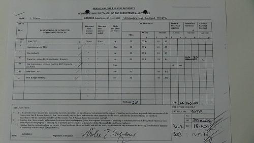Cllr Leslie Byrom expenses February 2014