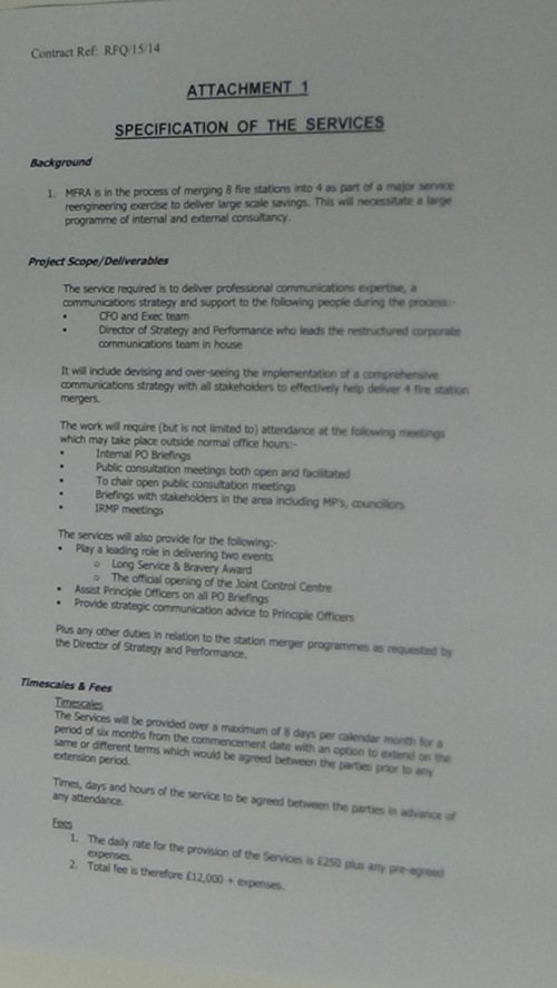 Contract Merseyside Fire and Rescue Authority and Peter Rushton Consultancy Limited page 11