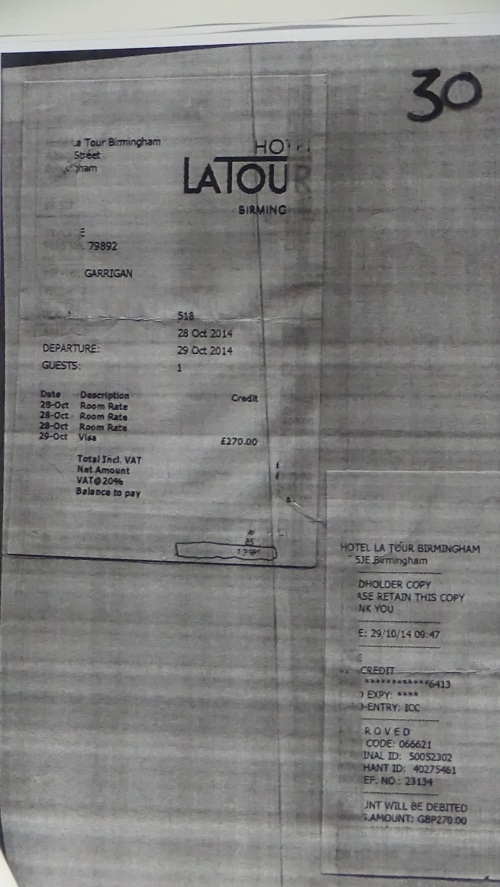 Merseyside Fire and Rescue Authority councillors expenses page 20 Hotel LaTour Birmingham £270
