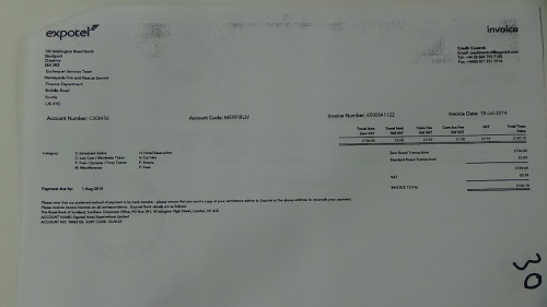 Merseyside Fire and Rescue Authority councillors expenses page 40 Expotel invoice £160 19