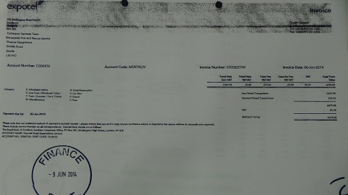Merseyside Fire and Rescue Authority councillors expenses page 44 Expotel invoice £678 02