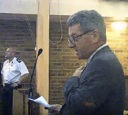 Peter Rushton Merseyside Fire and Rescue Authority fire station merger consultation meeting Greasby 10th November 2014