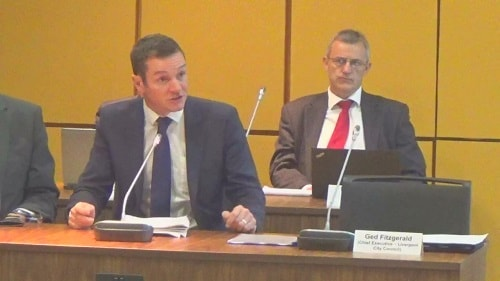Ben O'Brien of Kenyon Fraser Ltd (a PR company) speaking at the Liverpool City Region Combined Authority meeting on the 21st September 2015