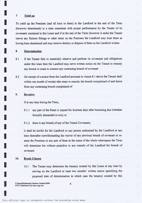Birkenhead Market lease Birkenhead Market Limited Wirral Borough Council page 4 of 17 thumbnail