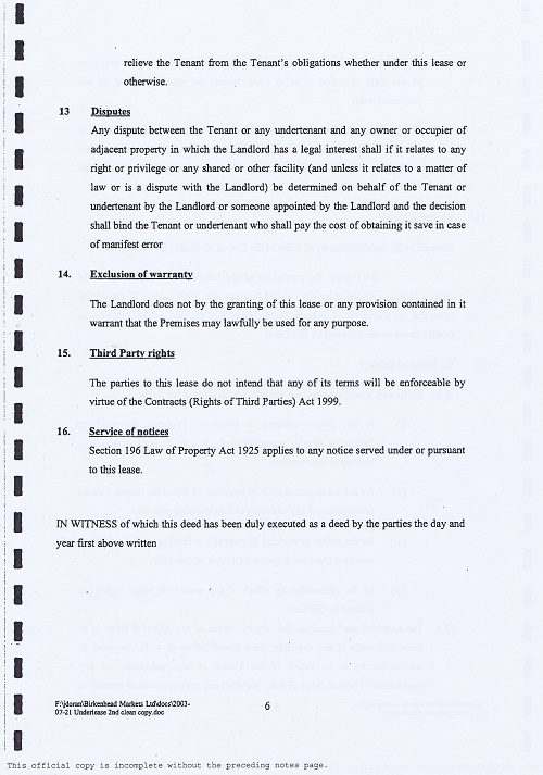 Birkenhead Market lease Birkenhead Market Limited Wirral Borough Council page 6 of 17 thumbnail