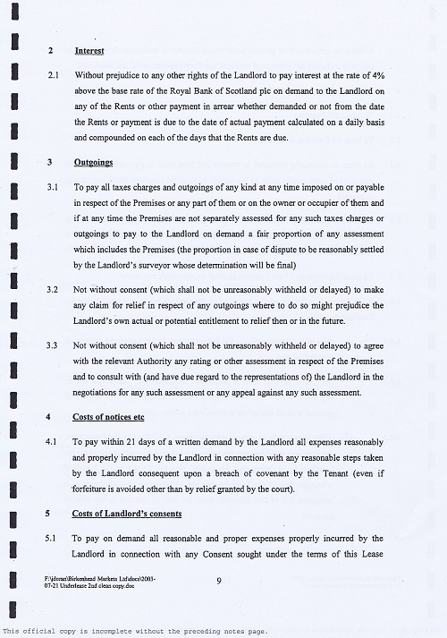 Birkenhead Market lease Birkenhead Market Limited Wirral Borough Council page 9 of 17 thumbnail