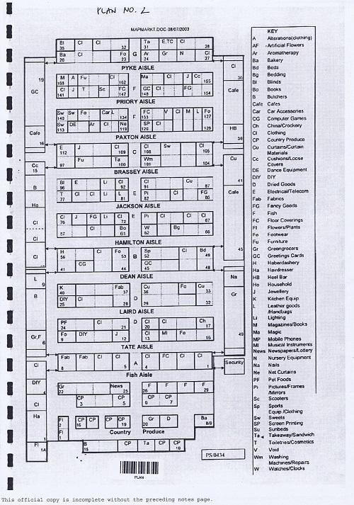 Birkenhead Market lease Birkenhead Market Limited Wirral Borough Council plan number 2 internal floor plan thumbnail