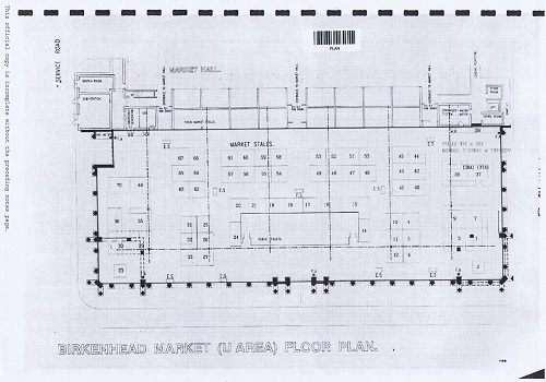 Birkenhead Market lease Birkenhead Market Limited Wirral Borough Council plan number 3 internal floor plan thumbnail