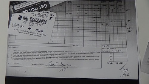 Cllr Leslie Byrom Virgin Trains receipt £12 page 2 of 3