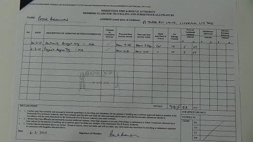 Cllr Peter Brennan car mileage claim page 2 of 2 thumbnail