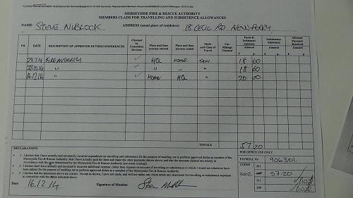 Cllr Steve Niblock taxi expenses July 2014 October 2014 December 2014 thumbnail