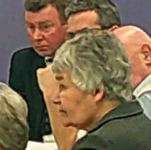 Current Chair of the Audit Sub Committee Cllr Denise Roberts is in the foreground of this photo from 27th November 2014 Background L to R former DCE Kieran Timmins  DCFO Phil Garrigan and councillor