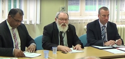 Employment and Appointments Committee 22nd September 2015 L to R Surjit Tour (Legal), Cllr Adrian Jones (Chair) and Tony Williams (Human Resources)
